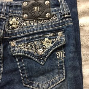 Miss me jeans with bling size 26